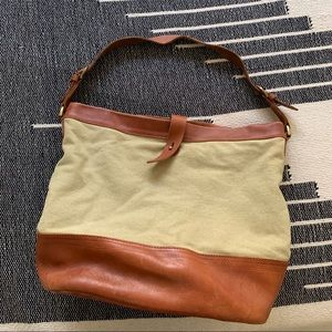 Madewell Canvas and Leather Tote